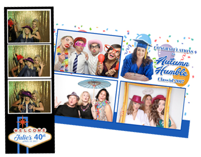 Top Hat Photo Booth Custom Graphics Sample